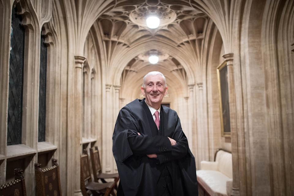 Sir Lindsay Hoyle in the House of Commons after becoming the new Speaker following John Bercow's departure after a decade in the position.