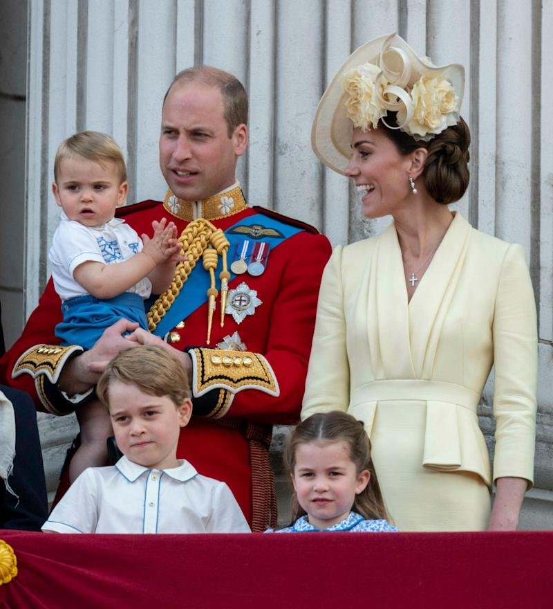 Prince William with his family.