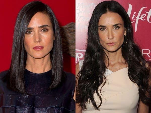 """<p>The dark hair, the piercing hazel eyes and iconic character portrayals are enough to make you believe that Moore and Connelly are one in the same. </p><p>In an interview for<a href=""""https://www.thetimes.co.uk/article/what-ive-learnt-jennifer-connelly-2mbsb2dwm"""" rel=""""nofollow noopener"""" target=""""_blank"""" data-ylk=""""slk:The Times Magazine"""" class=""""link rapid-noclick-resp""""> The Times Magazine</a> in October 2016, Connelly joked about the resemblance: 'Someone said, """"You're Demi Moore's sister!"""" If she does have a sister, it's not me'.</p>"""