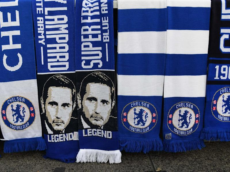 A view of Chelsea scarves: EPA