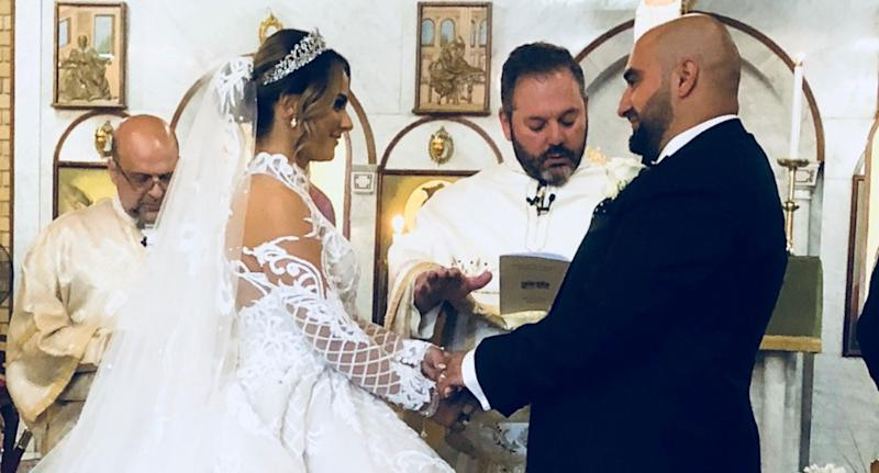Joseph and Francheska Bechara got married on October 7 before heading to the New York for their honeymoon. On the second day of their trip Ms Bechara suffered a stroke. Source: GoFundMe/ Bride has Stroke on Honeymoon Fund