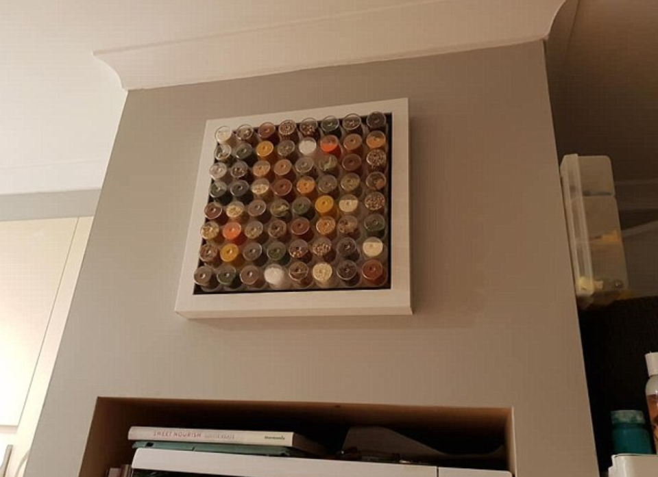 She now has her 'kitchen art' on display. Photo: Facebook