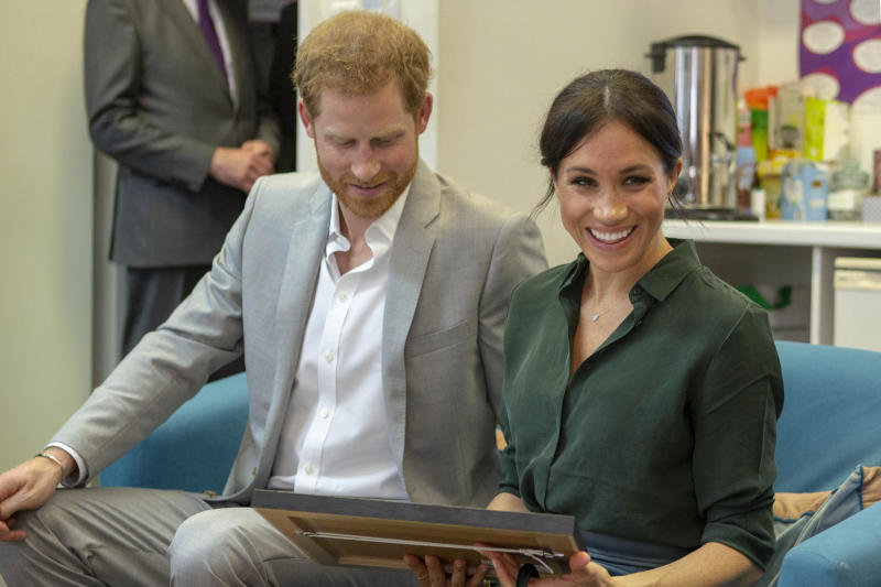 Prince Harry, Duke of Sussex and Meghan, Duchess of Sussex attend an engagement at the charity, 'Survivors' Network' during an official visit to Sussex on October 3, 2018 in Brighton, United Kingdom. The Duke and Duchess married on May 19th 2018 in Windsor and were conferred The Duke & Duchess of Sussex by The Queen. (Photo by WPA Pool/Getty Images)