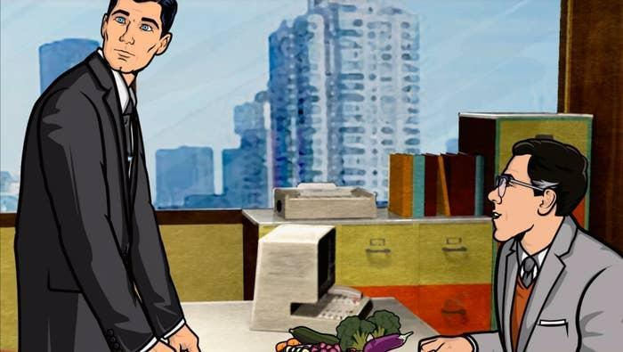 Office scene from Archer