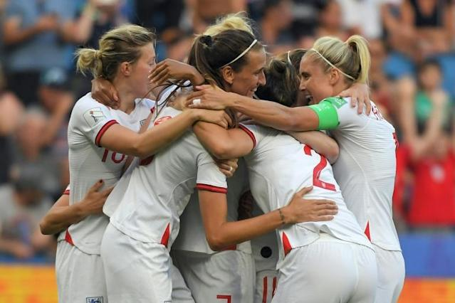 England's run to the semi-finals of the Women's World Cup has inspired a sell-out crowd for Saturday's friendly against Germany at Wembley (AFP Photo/LOIC VENANCE)