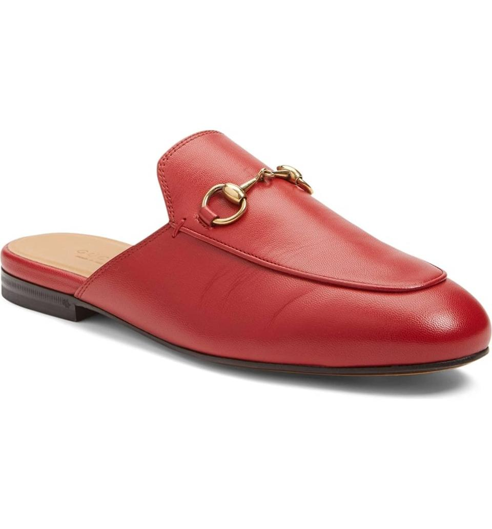 <p>Classic with a twist, these fiery red <span>Gucci Princetown Loafer Mules</span> ($695) are basically Aries in a shoe.</p>