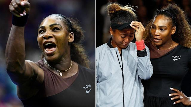 Serena Williams lost to Naomi Osaka after her infamous 2018 US Open meltdown. Pic: Getty