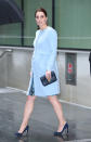 <p><strong>The occassion:</strong> A visit to the Maurice Wohl Clinical Neuroscience Institute at Kings College in London.<br><strong>The look:</strong> A floral dress by Seraphine worn under a baby blue coat, also by the brand.<br>[Photo: Getty] </p>