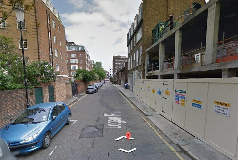 The victim was found in Logan Place, Kensington, on Sunday morning: Google Street View