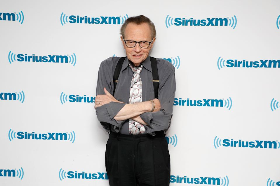 Larry King, pictured here in March, shares a health update. (Photo: Taylor Hill/Getty Images for SiriusXM)