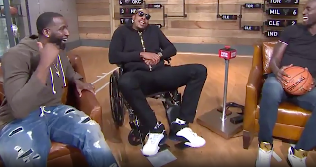 """Retirement is treating Paul Pierce well, thank you very much. (""""Inside the NBA"""" screenshot)"""