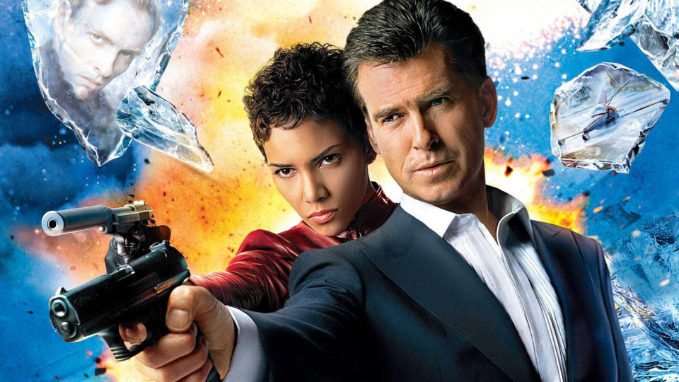 Halle Berry and Pierce Brosnan on the poster for 'Die Another Day'. (Credit: Eon/MGM/Fox)