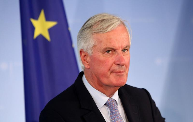 EU chief Brexit negotiator Michel Barnier speaks during a press conference in the German federal foreign ministry in Berlin: Getty Images