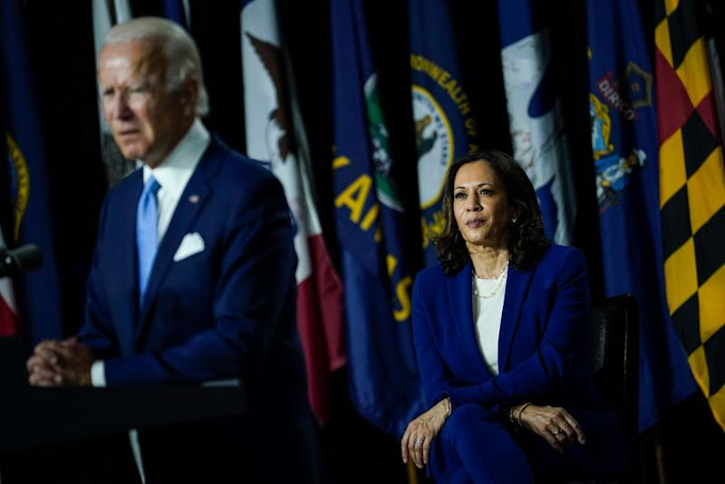 Joe Biden was quick to admonish attacks on Ms Harris he perceived to be wrapped in sexism. Source: Getty