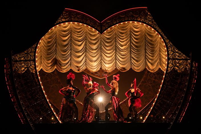 """The cast of """"Moulin Rouge! The Musical"""" on Broadway."""