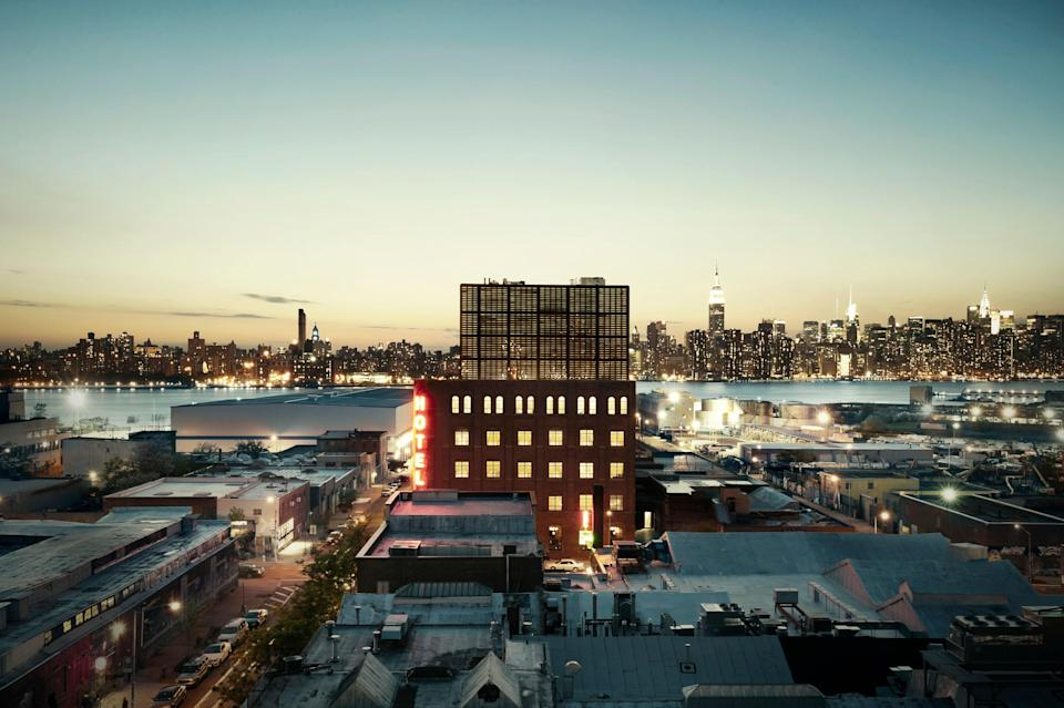 <p><strong>How did it strike you on arrival?</strong><br> The Wythe Hotel defines Williamsburg style for many—a former industrial building given a hipster makeover with exposed-brick walls, factory windows, concrete floors, and plenty of reclaimed wood.</p> <p><strong>What's the crowd like?</strong><br> As expected at a hotel in the center of the hippest neighborhood in Brooklyn, guests tend to be stylish in a casual, laid-back way.</p> <p><strong>Most importantly: Tell us about your room.</strong><br> High ceilings, floor-to-ceiling windows, concrete floors (with radiant heat) and simple but beautifully-made furniture characterize the minimally attractive guest rooms, many of which have views of Manhattan and the East River.</p> <p><strong>We're craving some deep, restorative sleep. They got us?</strong><br> Great beds here.</p> <p><strong>How about the little things, like mini bar, or shower goodies. Any of that worth a mention?</strong><br> We loved the custom made Flavor Paper wallpaper by artist Dan Funderburgh so much, we might try to hire him ourselves.</p> <p><strong>Please tell us the bathroom won't let us down.</strong><br> Bathrooms are roomy and just what you need, with locally made Goldie's bath products.</p> <p><strong>We could all use some good Wi-Fi. What's the word on that?</strong><br> Fast, free Wi-Fi.</p> <p><strong>Anything stand out about other services and features?</strong><br> Helmed by noted chefs Jake Leiber and Aidan O'Neal and restaurateur Jon Neidich, the Le Crocodile restaurant has earned raves for its bold brasserie fare. The same team oversees the 6th floor Bar Blondeau, which serves French plates and natural wines along with sweeping Manhattan views. </p> <p><strong>What was most memorable—or heartbreaking—about your stay?</strong><br> If you're choosing to stay in Williamsburg, you probably want an industrial-chic vibe, and Wythe Hotel delivers.</p> <p><strong>Bottom line: worth it, and why?</strong><br> The location is in the hear