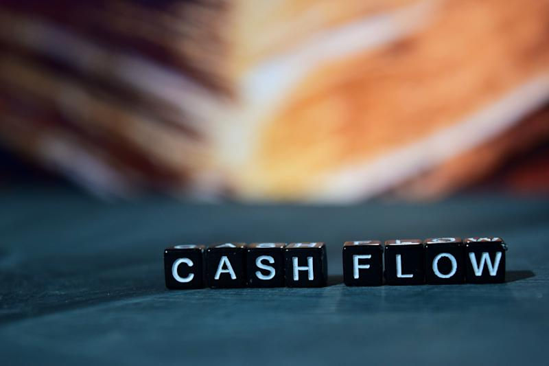 """Blocks spelling out the words """"cash flow."""""""