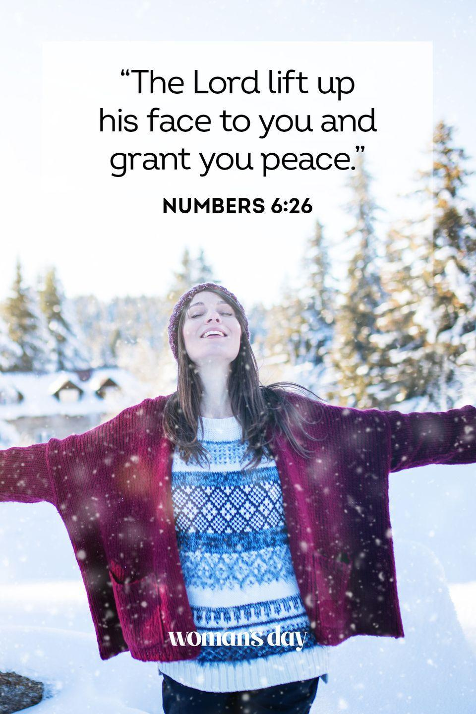"""<p>""""The Lord lift up his face to you and grant you peace."""" — Numbers 6:26</p><p><strong>The Good News</strong>: God is always there to bestow peace onto his followers.</p>"""