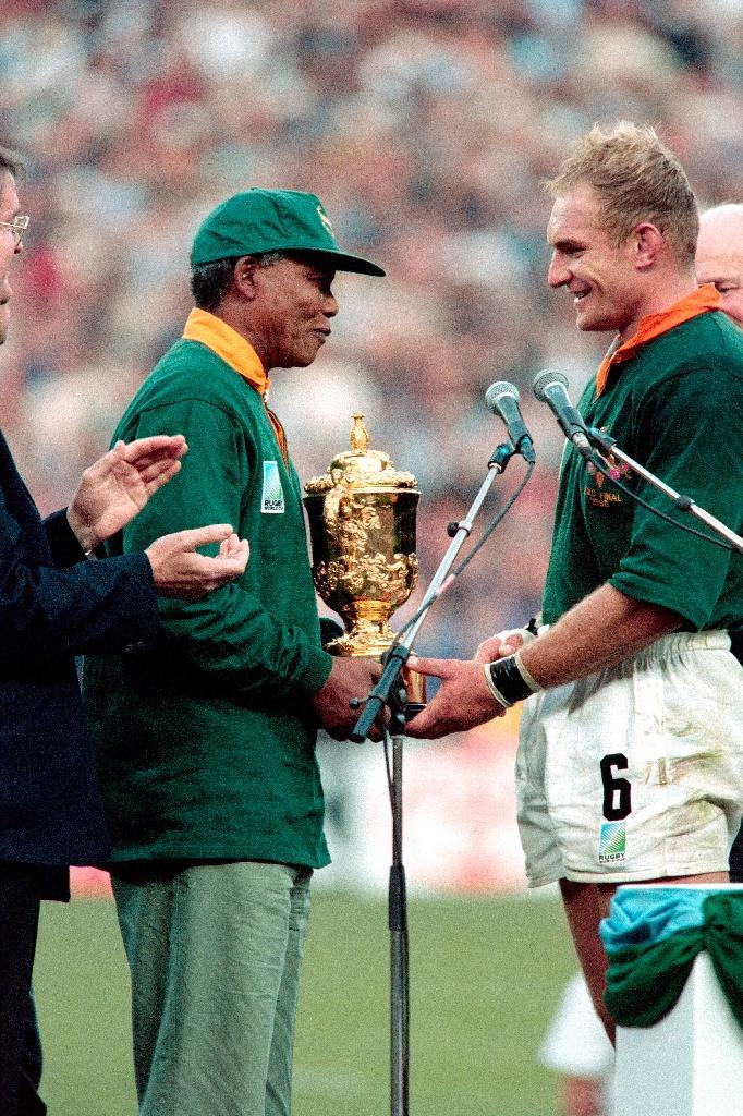 Nelson Mandela's use of the 1995 rugby union World Cup was designed to help heal a fractured nation emerging from decades of apartheid (AFP Photo/JEAN-PIERRE MULLER)