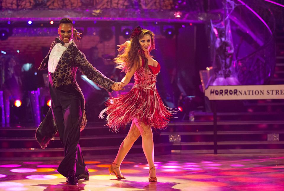 Johannes Radebe was partnered with Catherine Tyldesley on Strictly. (BBC / Guy Levy)