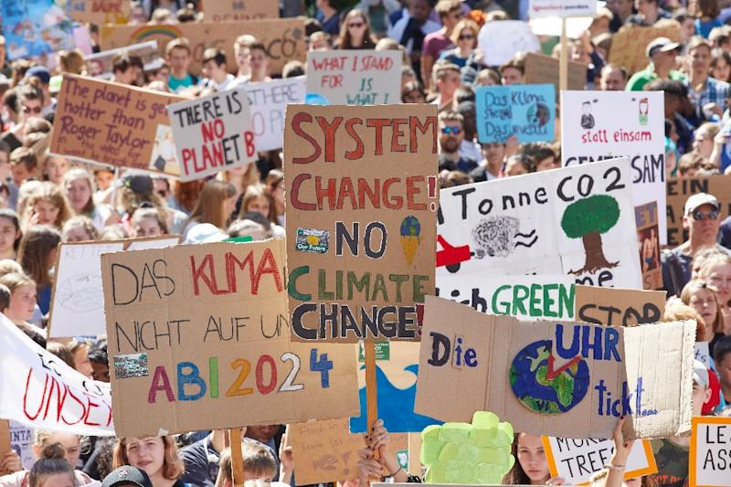 The EG, now in its sixth year, will enjoy at least the moral support of the fledgling Fridays for Future movement, shown here at a protest in Hamburg (AFP Photo/Georg Wendt)