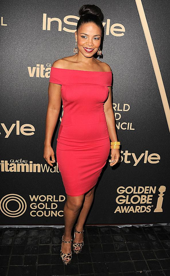 LOS ANGELES, CA - NOVEMBER 29:  Sanaa Lathan arrives at the The Hollywood Foreign Press Association And InStyle Miss Golden Globe 2013 Party on November 29, 2012 in Los Angeles, California.  (Photo by Steve Granitz/WireImage)
