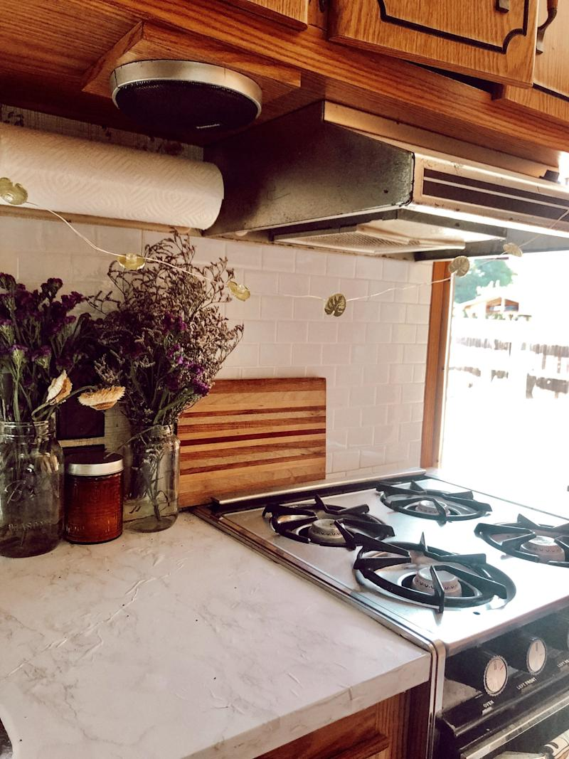 Our little kitchen - I remodeled it to make it more homey.