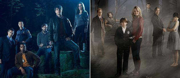 "NBC's ""Grimm"" takes on ABC's ""Once Upon a Time"" (NBC/Eric Ogden, ABC/Kharen Hill)"