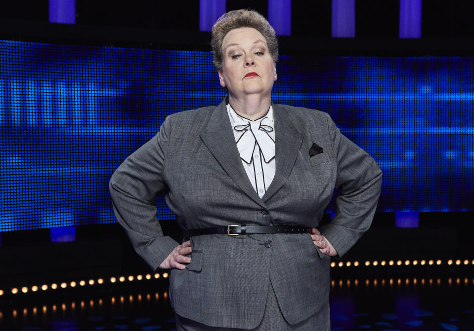 "Chaser, Anne ""The Governess"" Hegerty on The Chase. (© ITV/Matt Frost)"