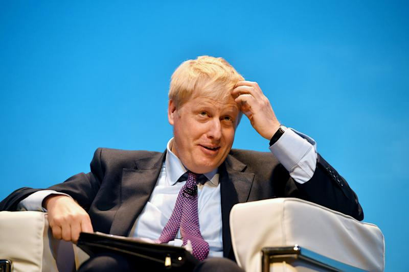 Conservative party leadership candidate Boris Johnson during the first party hustings at the ICC in Birmingham.