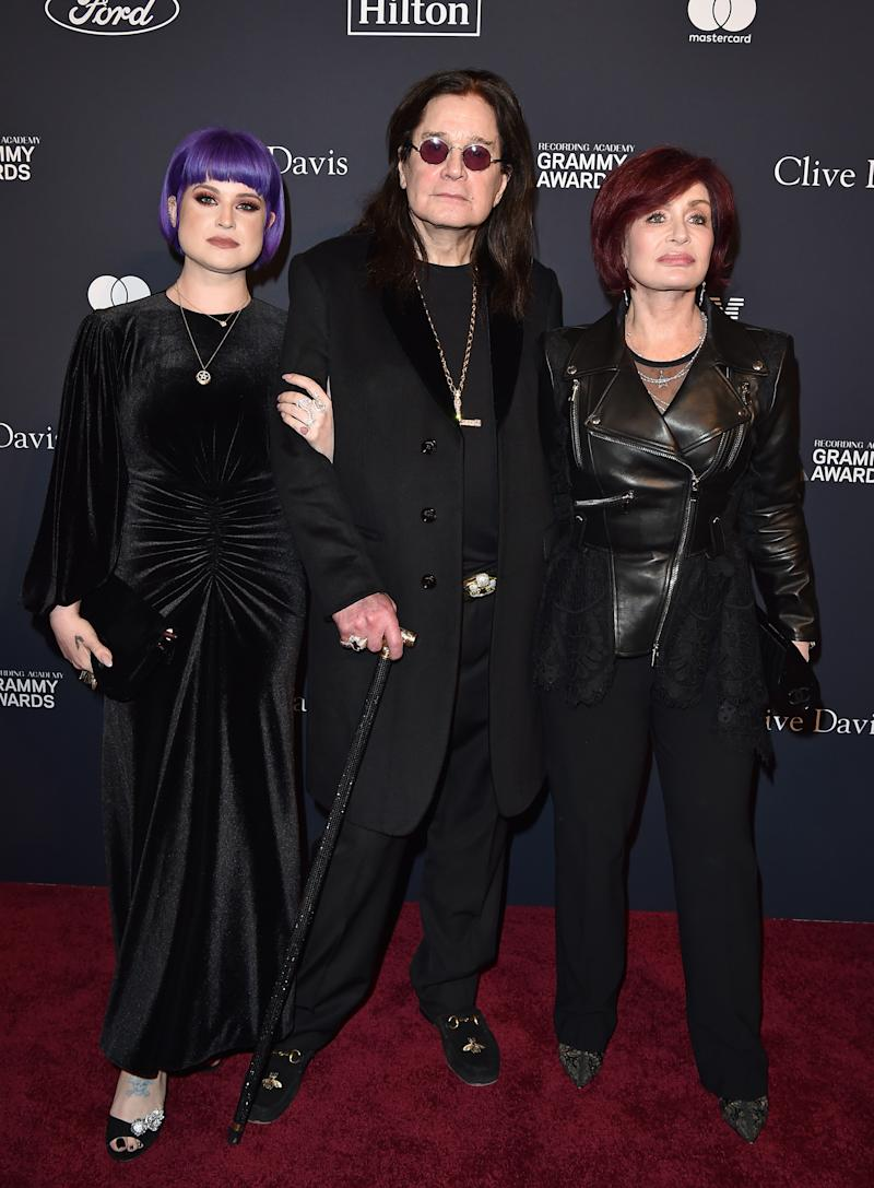 "Kelly Osbourne, Ozzy Osbourne, and Sharon Osbourne attend the Pre-GRAMMY Gala and GRAMMY Salute to Industry Icons Honoring Sean ""Diddy"" Combs at The Beverly Hilton Hotel on January 25, 2020 in Beverly Hills, California. (Photo by Axelle/Bauer-Griffin/FilmMagic)"