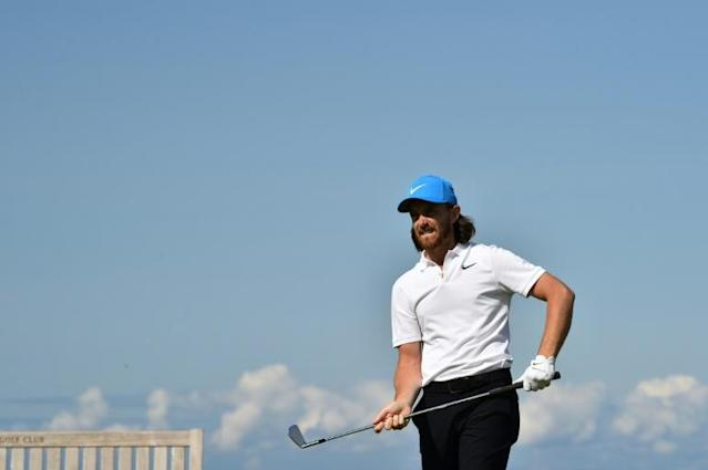 Fleetwood is Lowry's closest challenger on 12-under (AFP Photo/Glyn KIRK )