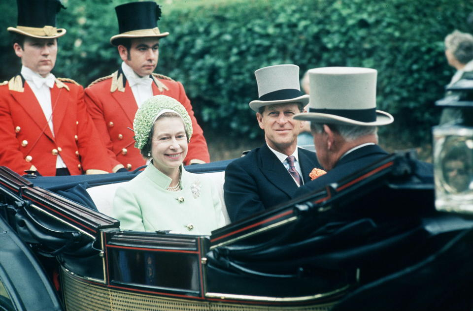 The Queen and Prince Phillip at Ascot in 1973. [Photo: Getty]
