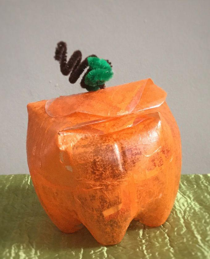 """<p>Save your plastic bottles and upcycle them into super-cute pumpkins. You can even fill it with treats and use it as a goody bag for a Halloween party.</p><p><a href=""""https://seevanessacraft.com/2017/09/halloween-plastic-bottle-pumpkin-craft-kids/"""" rel=""""nofollow noopener"""" target=""""_blank"""" data-ylk=""""slk:Get the tutorial at See Vanessa Craft »"""" class=""""link rapid-noclick-resp""""><em>Get the tutorial at See Vanessa Craft »</em></a> </p>"""