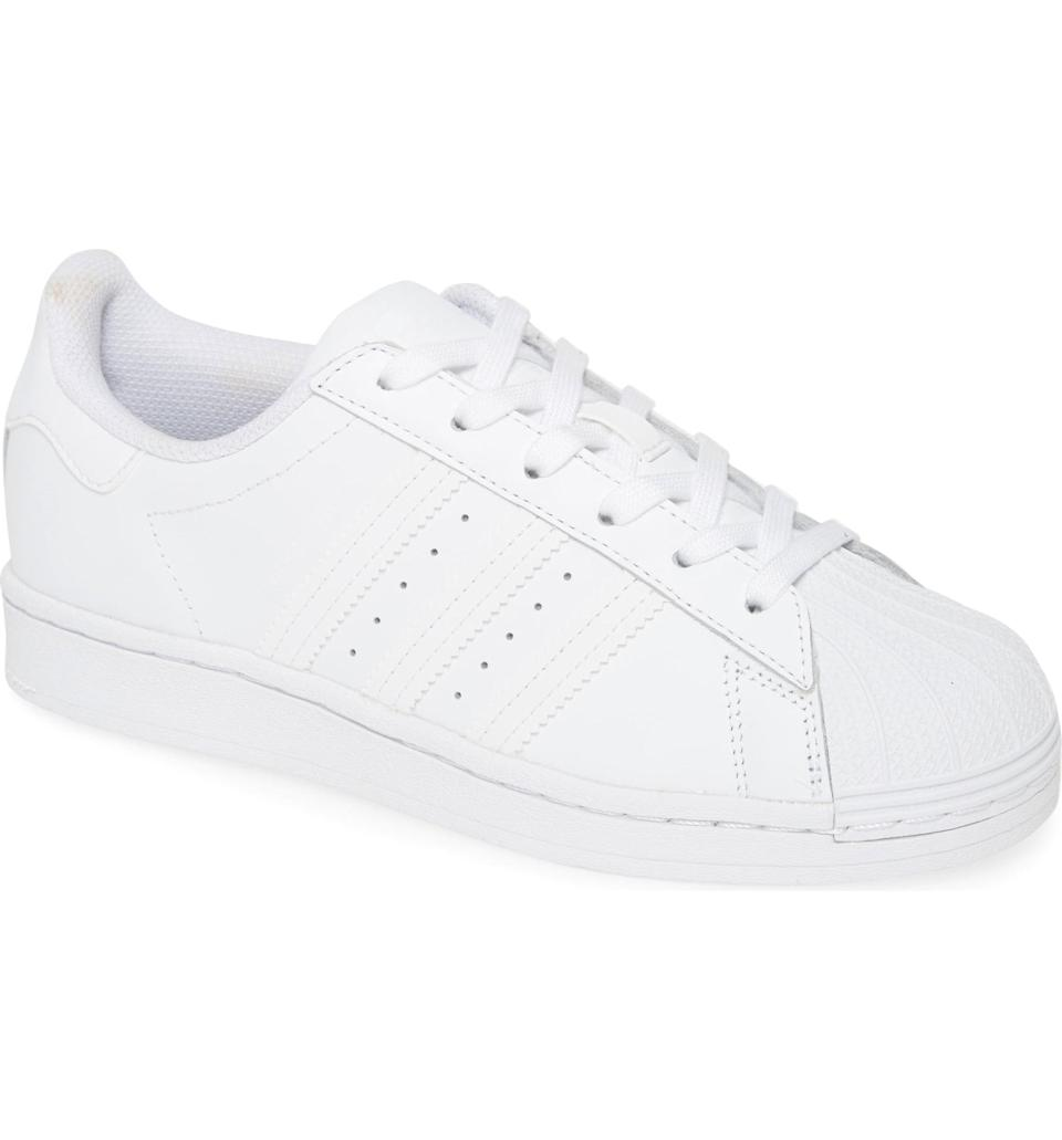 <p>You may look down at a group of your tween's friends and see several pairs of these <span>Adidas Superstar Sneakers</span> ($80), so it should be a sure win in the gift department.</p>