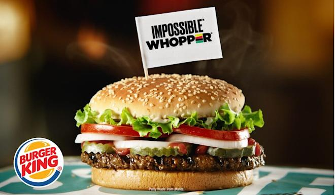 In August, Burger King began serving the Impossible Whopper throughout America using meatless patties from California-based Impossible Foods. Photo: Handout.