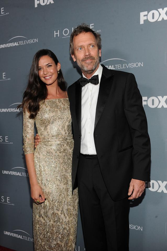 "Hugh Laurie and Odette Annable arrive at the ""<a target=""_blank"" href=""http://tv.yahoo.com/house/show/36106"">House</a>"" Series Finale Wrap Party on Friday, April 20, 2012 at Cicada in downtown Los Angeles, California."