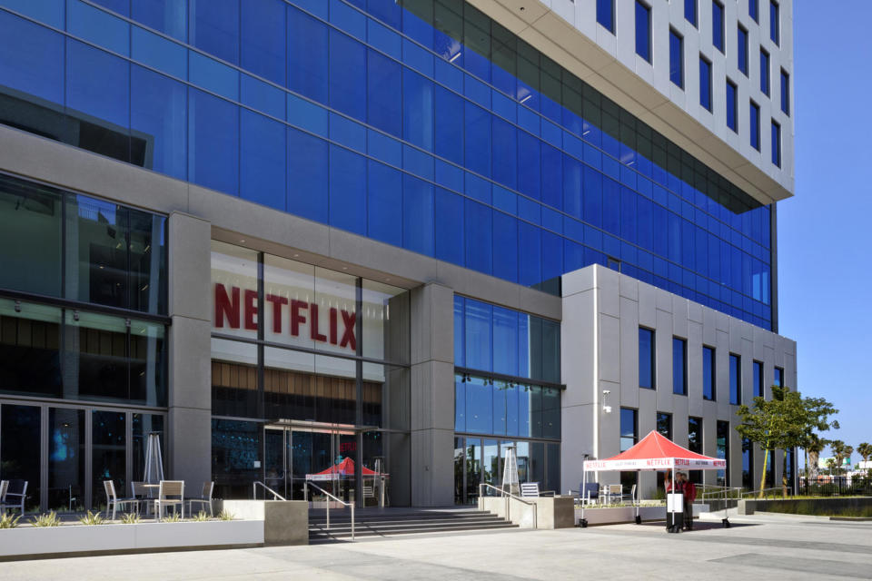 HOLLYWOOD, CA - APRIL 20: In this handout photo provided by Netflix, is a view of Netflix's headquarters located on Sunset Blvd. on April 20, 2020 in Hollywood, California.  (Photo by Netflix via Getty Images)