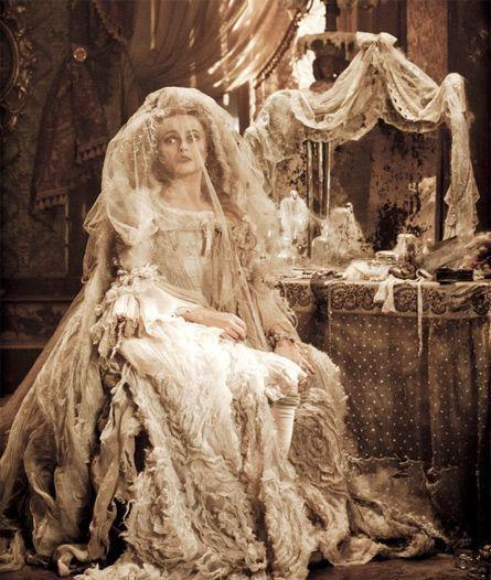 <p>Okay, I get that it's tragic/not super sanitary that Miss Havisham chose to wear her wedding dress for the rest of her life after she was jilted at the altar, but Helena Bonham Carter is kinda working it regardless, no? </p>