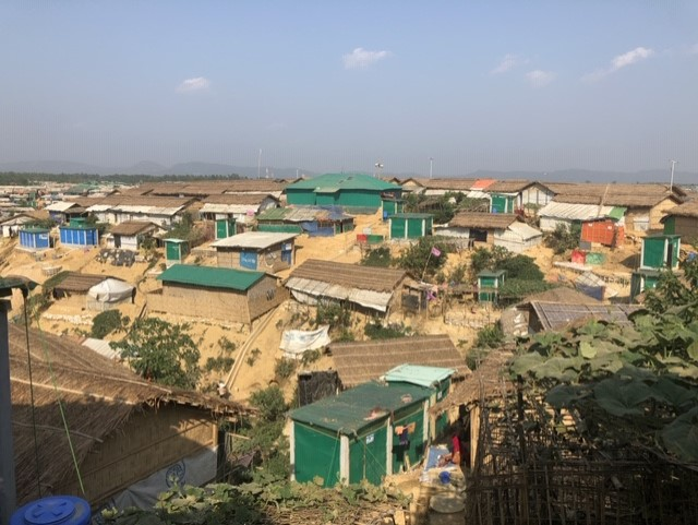 A view of the old registered and new unregistered camps could be found from the high hill view-points of Lambasia in Kutupalong.