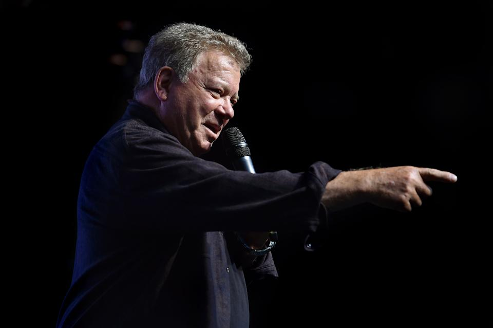 William Shatner, who played Captain Kirk in the original Star Trek, during a press conference to launch Destination Star Trek Europe at The NEC in Birmingham.