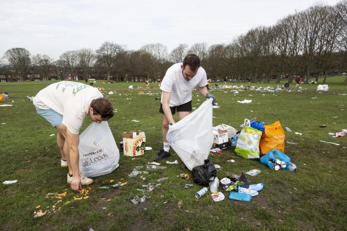 Thousands of revellers descended on Woodhouse Moor in Leeds. (SWNS)