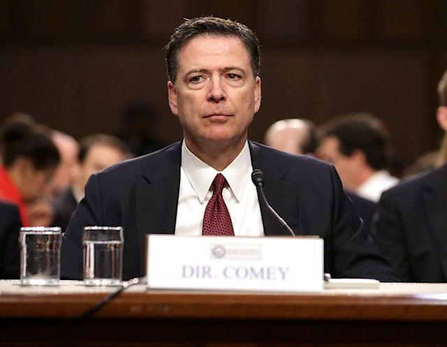 Former FBI Director James Comey testifies before the Senate intelligence committee on June 8. (Photo: Chip Somodevilla/Getty Images)