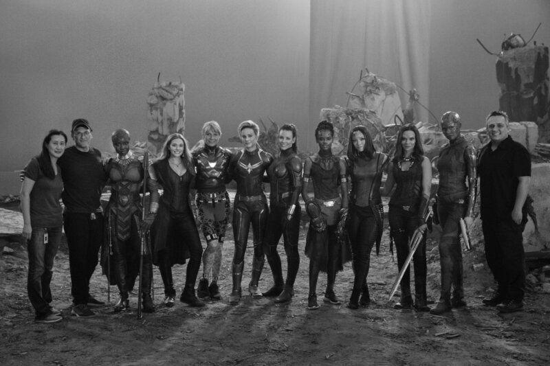 Most of the female Avengers together