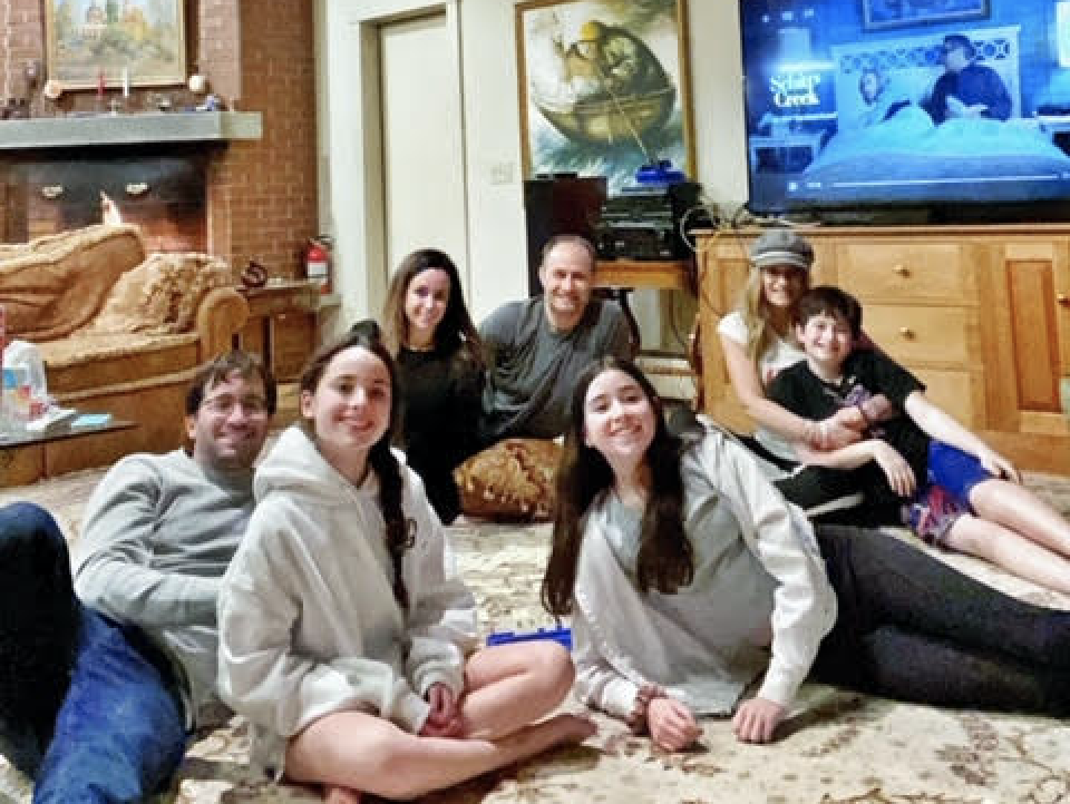 Everyone comes together for group game night. (Photo courtesy of Denise Albert)