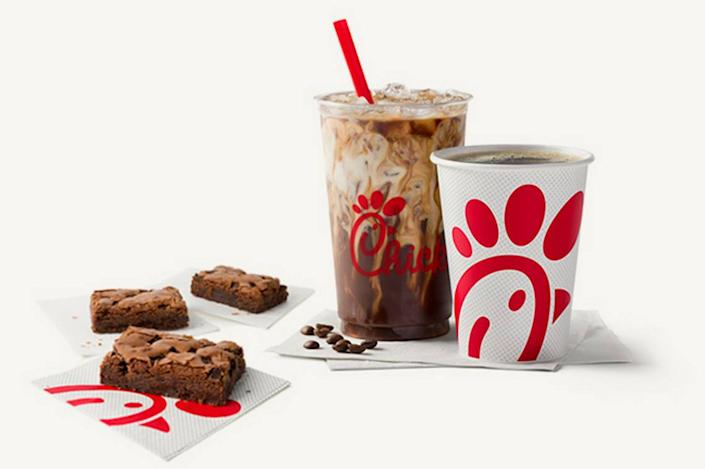 Chick-fil-A is adding a brownie and two coffee beverages to its menu, the company said.
