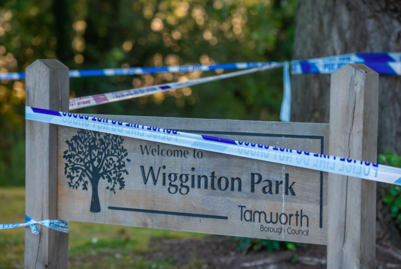 Keeley Bunker was discovered lying face down in a pond in Wiggington Park. (SWNS)