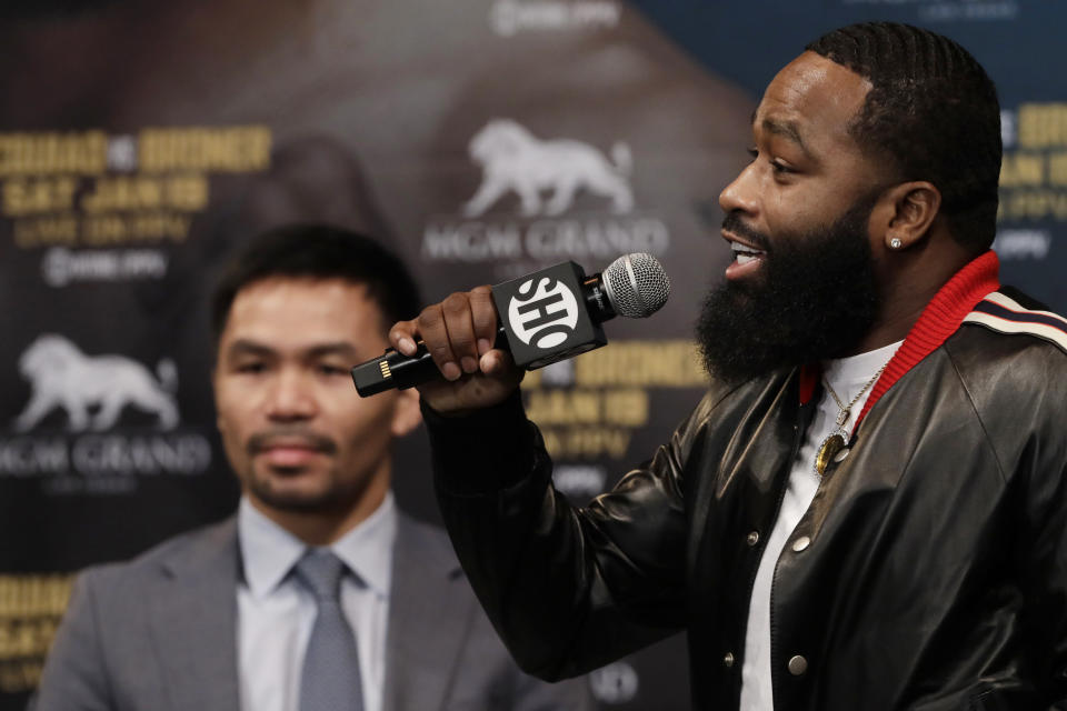 Adrien Broner has failed to appear in court many times over his career. (AP Photo)