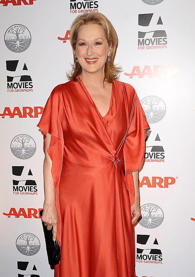 "They say Hollywood is obsessed with youth, but AARP Magazine's 11th Annual Movies for Grownups Awards proved otherwise. Meryl Streep's Margaret Thatcher biopic, ""The Iron Lady,"" took home the Grownup Love Story award Monday night. (2/6/2012)"