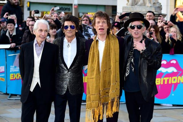 Charlie Watts, Ronnie Wood, Mick Jagger and Keith Richards of The Rolling Stones